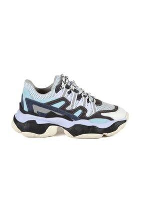 Sofia Baldi Kadın Cuphea Mavi / Beyaz Süet Bağcıklı Spor Ayakkabı