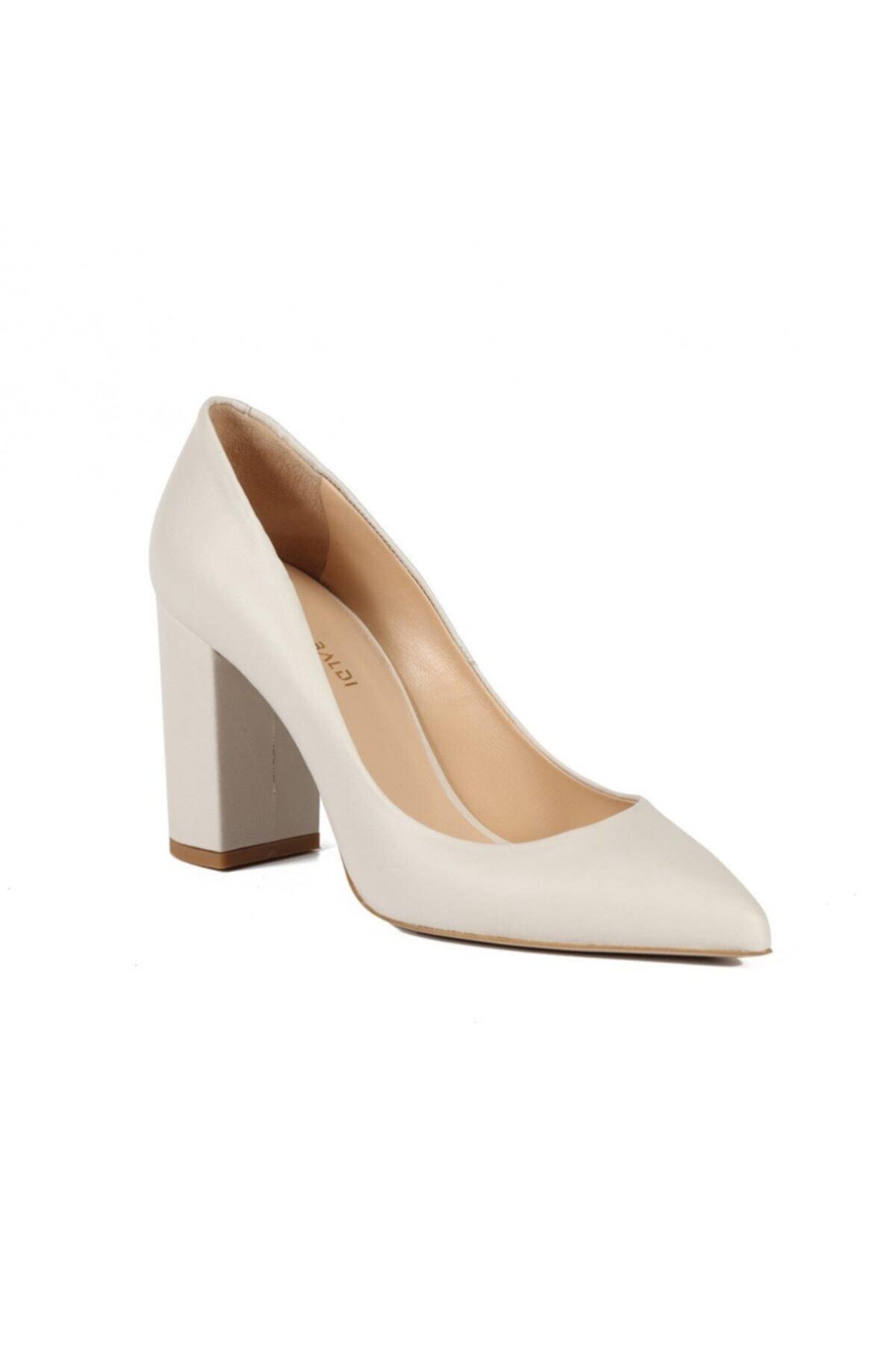 Sofia Baldi Kadın Rachelle Beyaz Deri Topuklu Ayakkabı 2