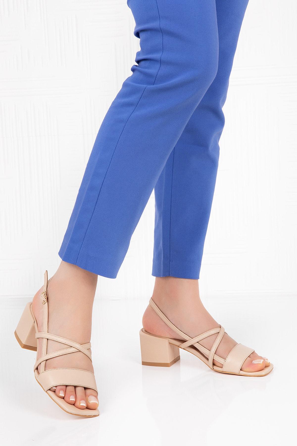 Gondol Hakiki Deri Topuklu Ayakkabı 2