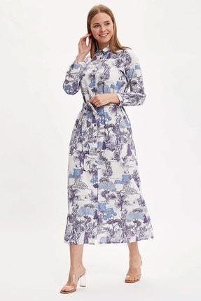 DeFacto Desenli Dokuma Elbise