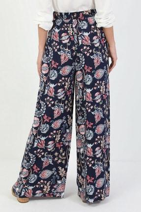 Colin's Regular Fit Yüksek Bel Geniş Paça Kadın Lacivert Pantolon