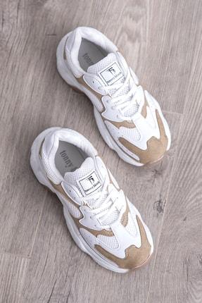 Tonny Black Bayan Spor Ayakkabı Beyaz Toprak Tb284 -> 38 -> Beyaz Toprak