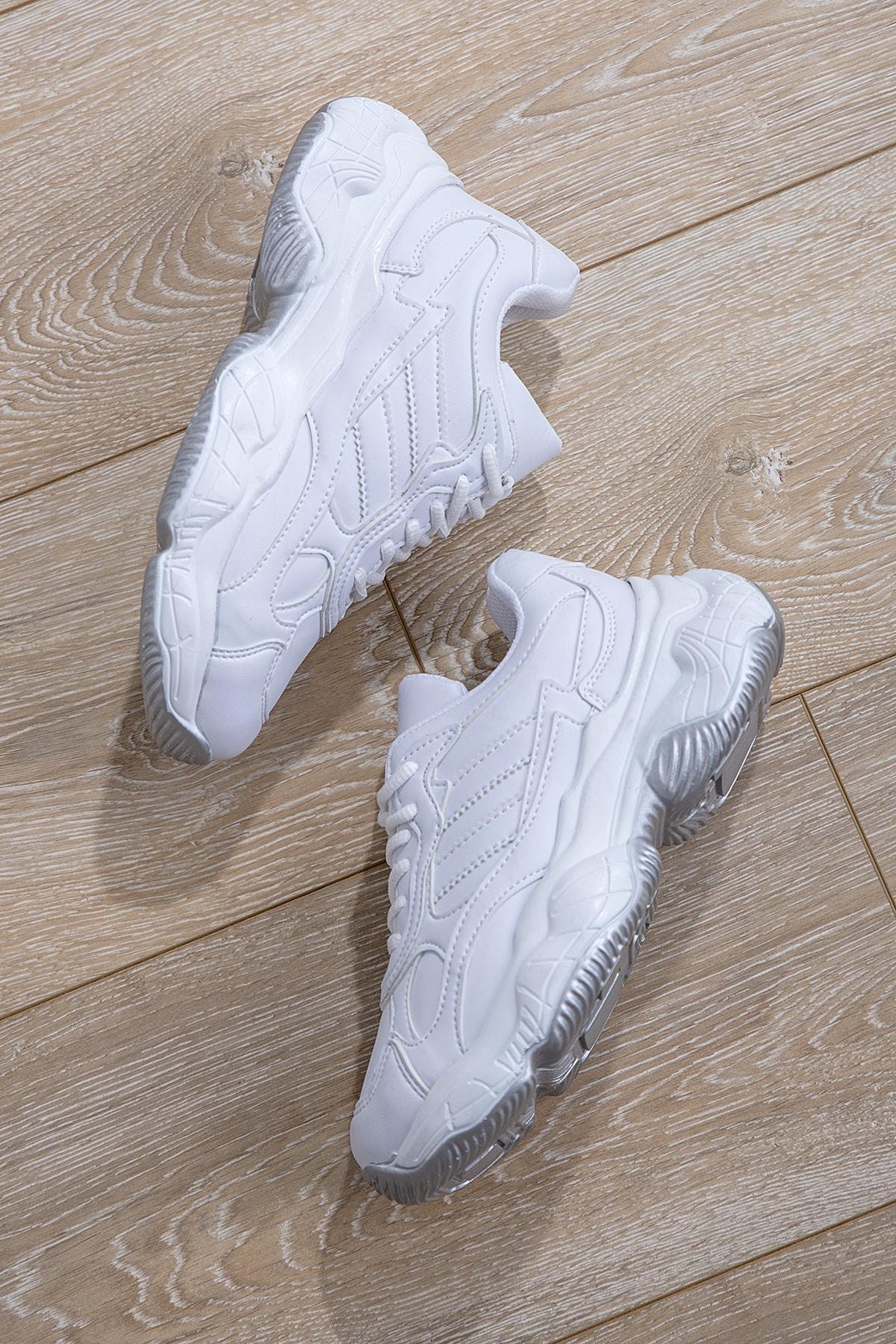 Tonny Black Kadın Spor Ayakkabı Beyaz Cilt Tb246 -> 36 -> Beyaz Cilt 1