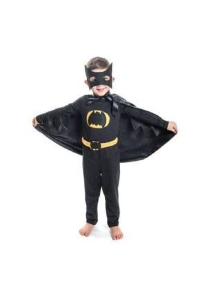Mashotrend Batman Çocuk Kostümü - Maskeli Pelerinli Batman Kostümü - Kanatlı Model Kara Şimşek