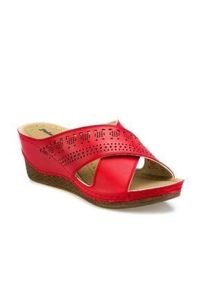 Polaris 161111.Z Kırmızı Kadın Dolgu Topuklu Terlik 100509366