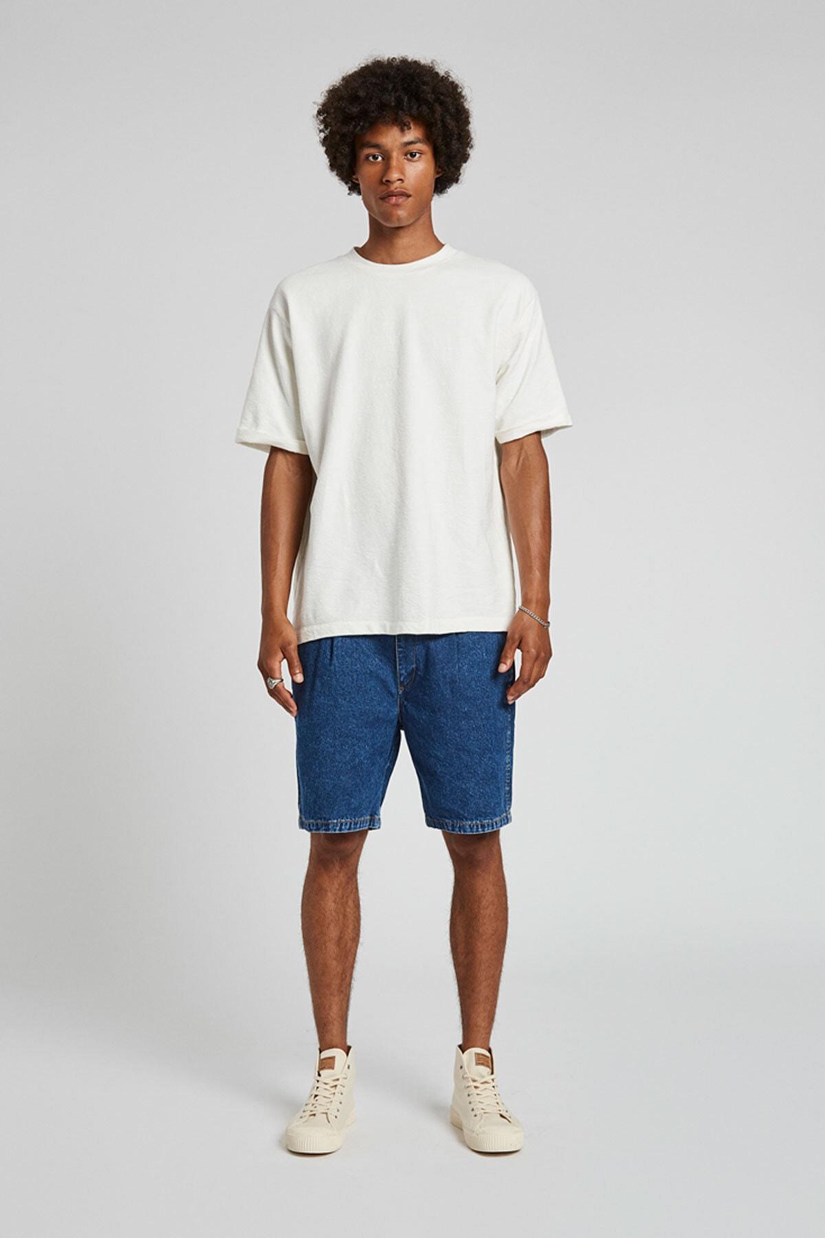 Pull & Bear Erkek Orta Mavi 90'Lar Model Bermuda 05692507