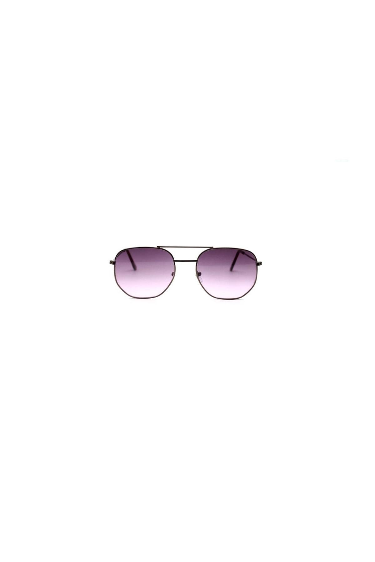 CUTE CAT Hidra Purple Degrade Small Hexagon Unisex Güneş Gözlüğü 2