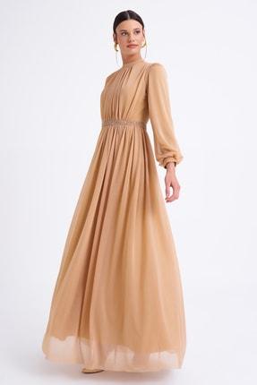 Elbisemhazır Kadın Sarı Uzun Abiye