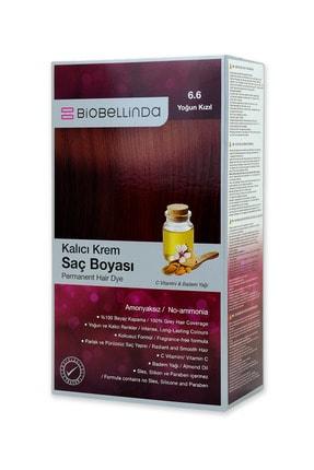 BioBellinda Amonyaksız Kalıcı Krem Saç Boyası - 6.6 Yoğun Kızıl