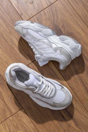 Tonny Black Kadın Spor Ayakkabı Beyaz Gri Tb246