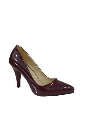Mia Stiletto Topuklu Bordo Rugan Ayakkabı