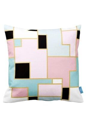 Mizalle Mızalle Home Renkli Şekilli Dekoratif Yastık Kılıfı (43x43)