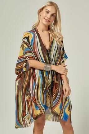 Y-London Kadın Sarı Multicolour Desen Pareo 13126-2