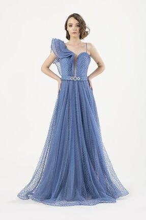 MAXXE Kadın Mavi Tül Elbise