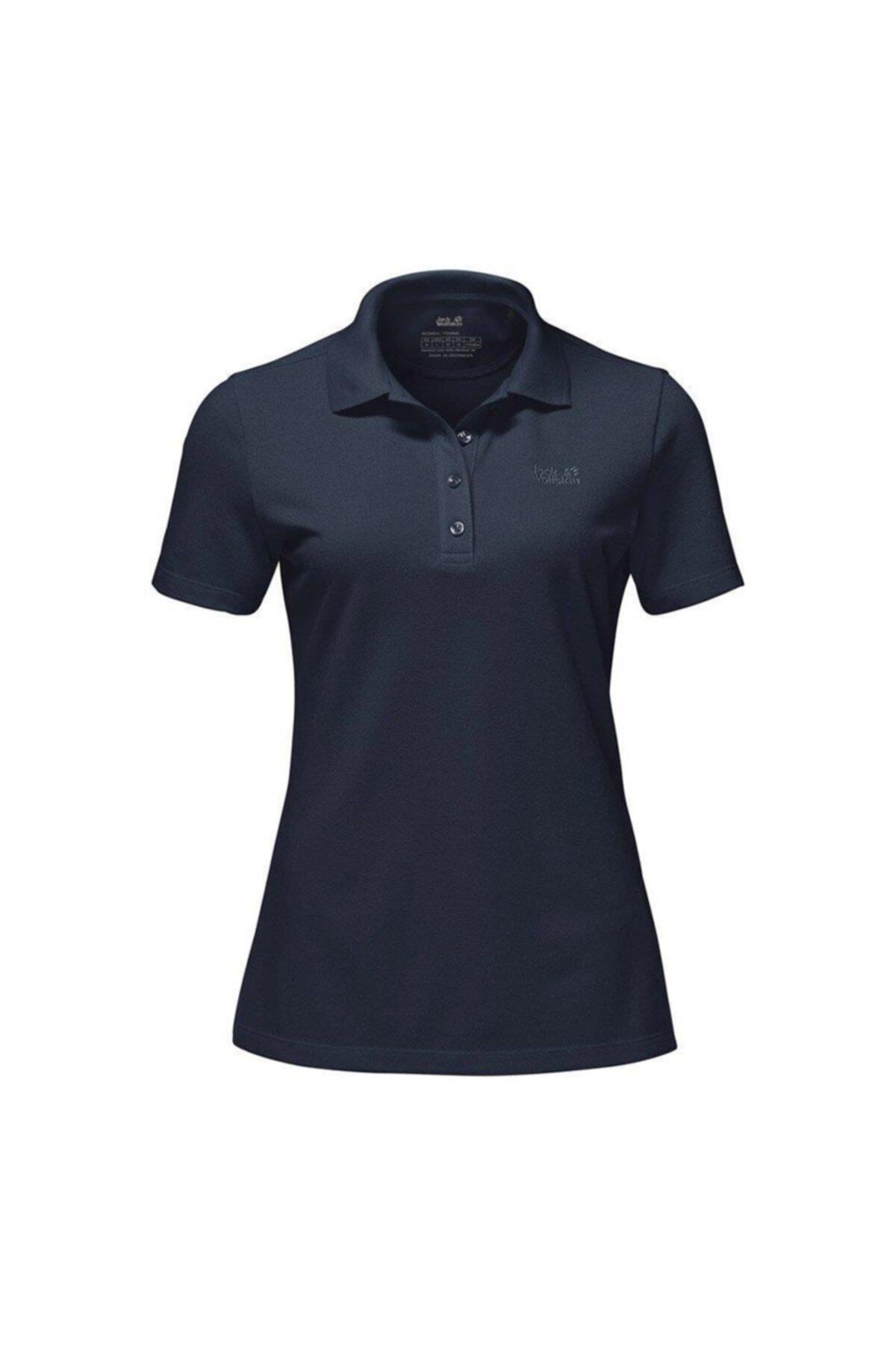 Jack Wolfskin Pique Polo Kadın T-Shirt - 1805701-1010 1