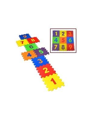SULING Sayılar Tatami Oyun Minderi Yer Matı Puzzle Minder 32x32cm 9 Adet