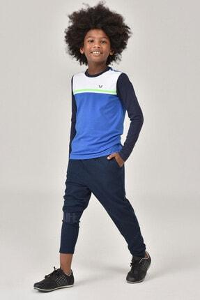 bilcee Mavi Unisex  Uzun Kol Çocuk T-Shirt FW-1487