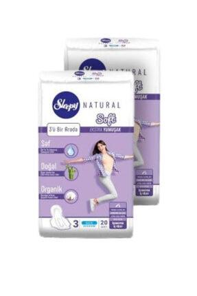 Sleepy Natural Soft Ince Gece 20'li Hijyenik Ped X2