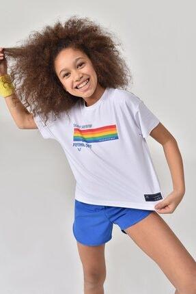 bilcee Beyaz Kız Çocuk T-Shirt GS-8150