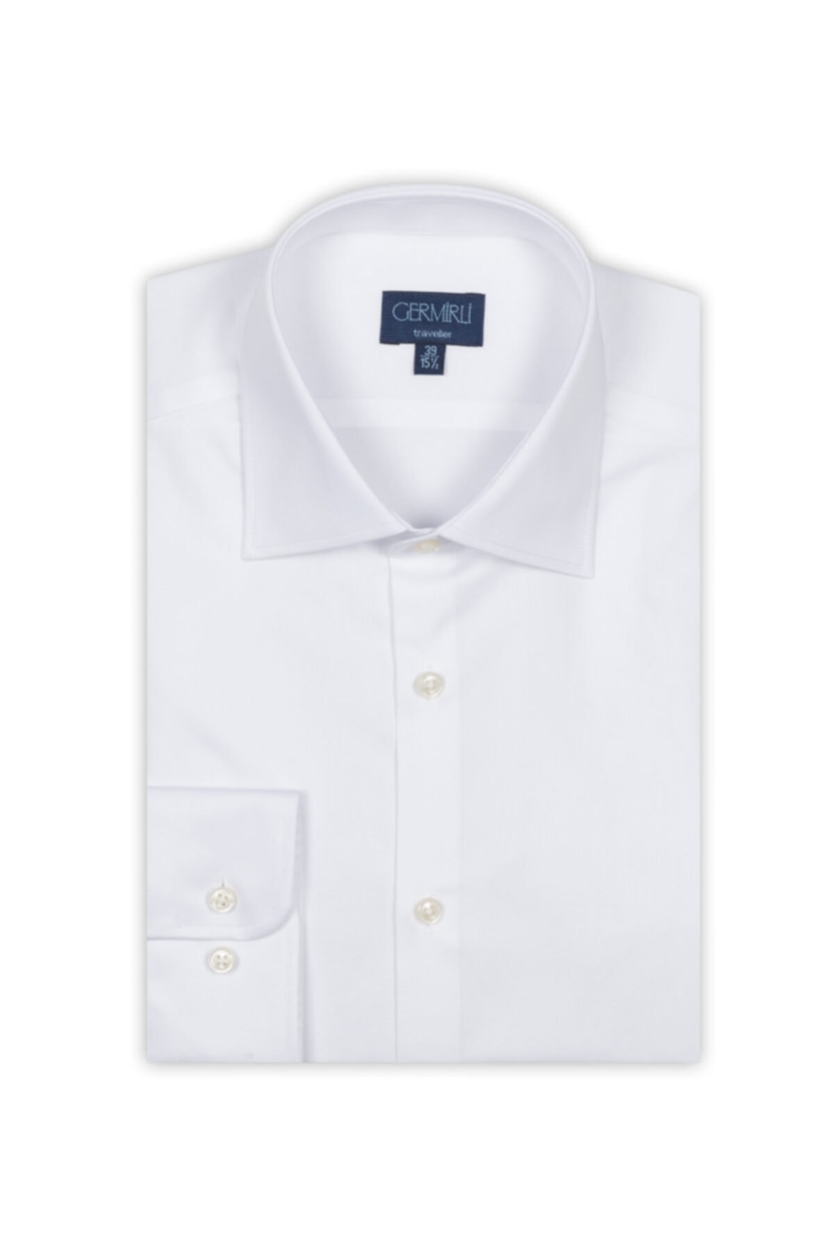 Germirli Beyaz Non Iron  Twill Tailor Fit Gömlek 2