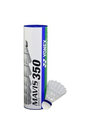 YONEX Mavis 350 (6'lı) Beyaz Badminton Topu Yeşil Bant