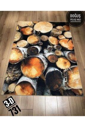 DOĞUŞ HALI 3 Boyutlu Pvc Taban Makinede Yıkanabilir Dekoratif Salon Mutfak Yatak Odası Halısı 3d 731