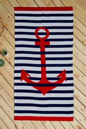 Sateen Men Erkek Kırmızı-Beyaz Plaj Havlusu STN894EHA101
