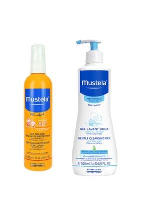 Mustela Bebek Güneş Ve Banyo Seti Sprey Koruyucu 300 ml + Saç Vücut Şampuan 500 ml