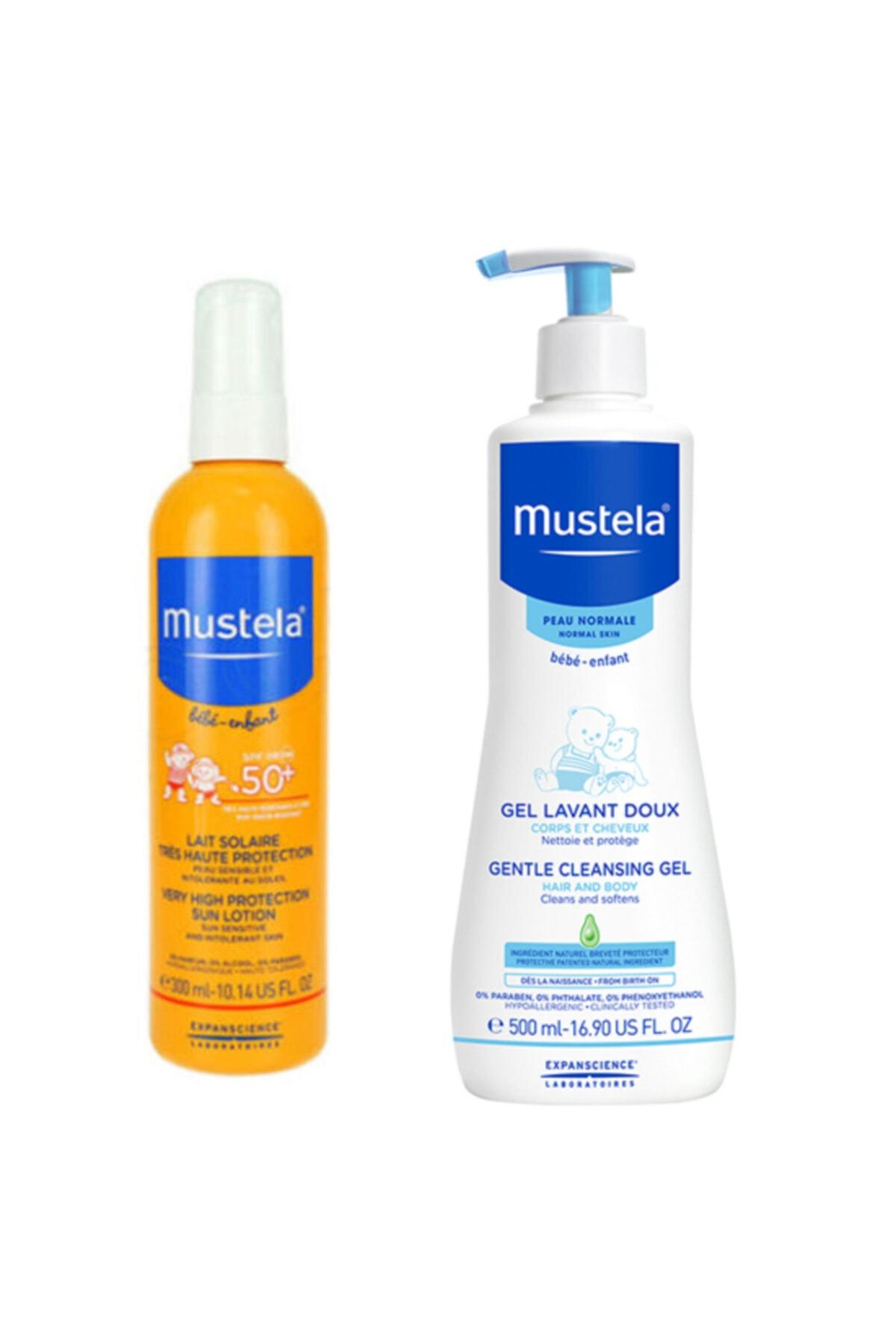 Mustela Bebek Güneş Ve Banyo Seti Sprey Koruyucu 300 ml + Saç Vücut Şampuan 500 ml 1