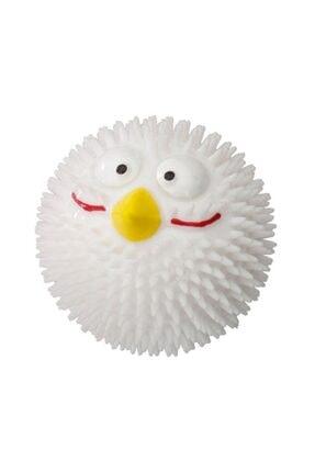 Pet Corn Duvo+ Rubber Lucky Bird Köpek Oyun Topu White