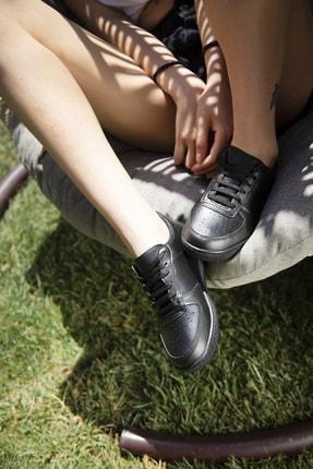 Ayakkabı Modası Siyah Kadın Spor Ayakkabı 4000-20-101001