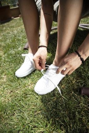Ayakkabı Modası Beyaz Kadın Spor Ayakkabı 4000-20-101001
