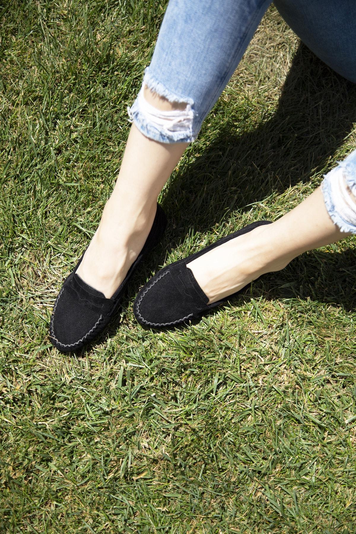 Ayakkabı Modası Siyah Kadın Babet 5008-20-111008 1
