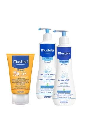 Mustela Güneş Ve Banyo Seti Şampuan 500 ml & Losyon 300 ml & Güneş Koruyucu  Spf 50 + 100 ml SS20200612008