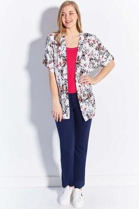 Lohusa Sepeti Kadın Beyaz Bahar Sabahlıklı Pijama Takımı 20650