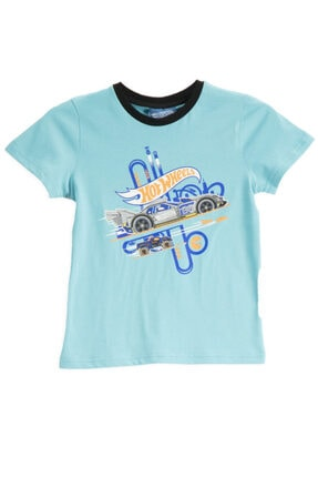 HOT WHEELS Lisanslı Turkuaz Erkek Çocuk T-shirt