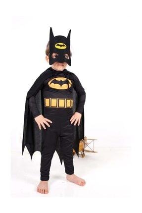 Tarzkids Batman Çocuk Kostümü - Maskeli Pelerinli Batman Kostümü 6-7 Yaş