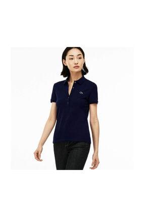 Lacoste Kadın Slim Fit Lacivert Polo PF7845