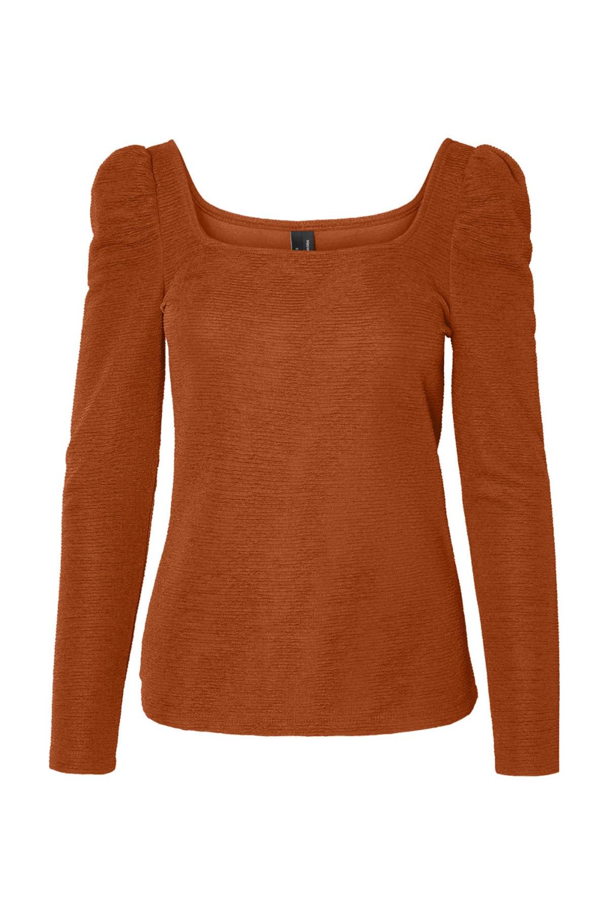 Vero Moda Kadın Taçın Kare Yaka Omuz Detaylı Bluz 10230992 VMALPHA 2