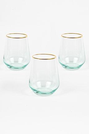 Rakle Harmoni 3'lü Su Bardağı Seti Yeşil 425 cc