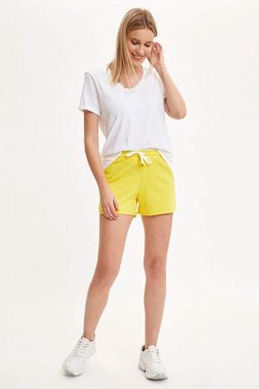 DeFacto Kadın Sarı Elastik Belli Şort K8634AZ.20SP.YL291
