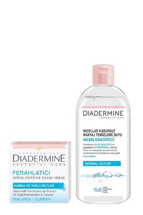 Diadermine Essential Care Ferahlatıcı Krem 50 ml+Micellar Nemlendirici Makyaj Temizleme Suyu 400 ml