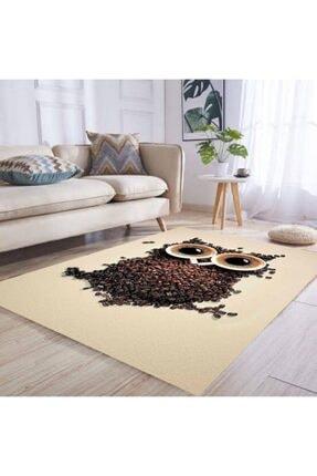 DOĞUŞ HALI 3 Boyutlu Pvc Taban Makinede Yıkanabilir Dekoratif Salon Mutfak Yatak Odası Halısı 3d 734