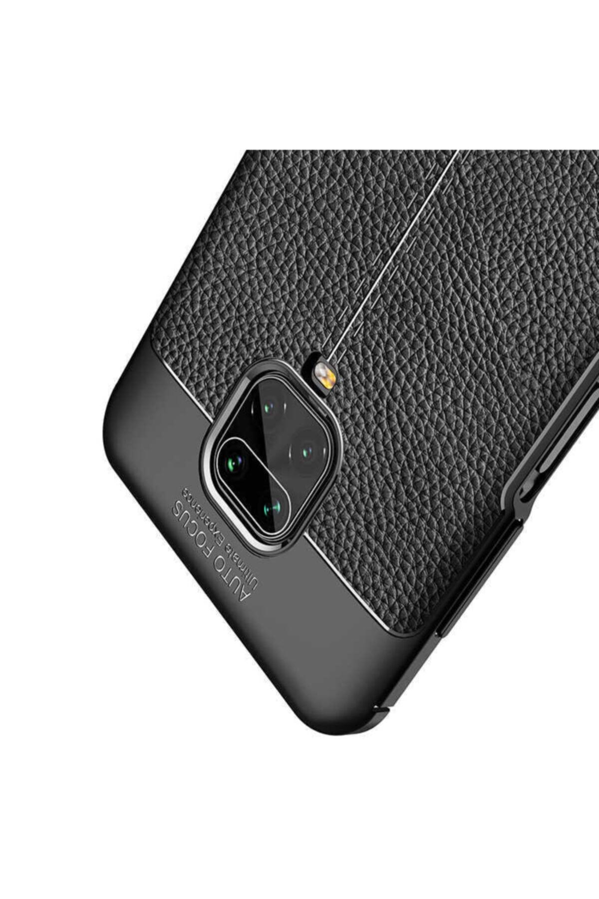 Telefon Aksesuarları Redmi Note 9 Pro Deri Görünümlü Silikon Kılıf 2