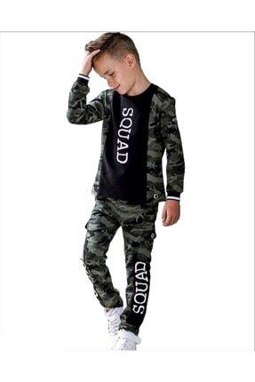 Woorage Erkek Çocuk Kamuflaj Alt Üst Takım