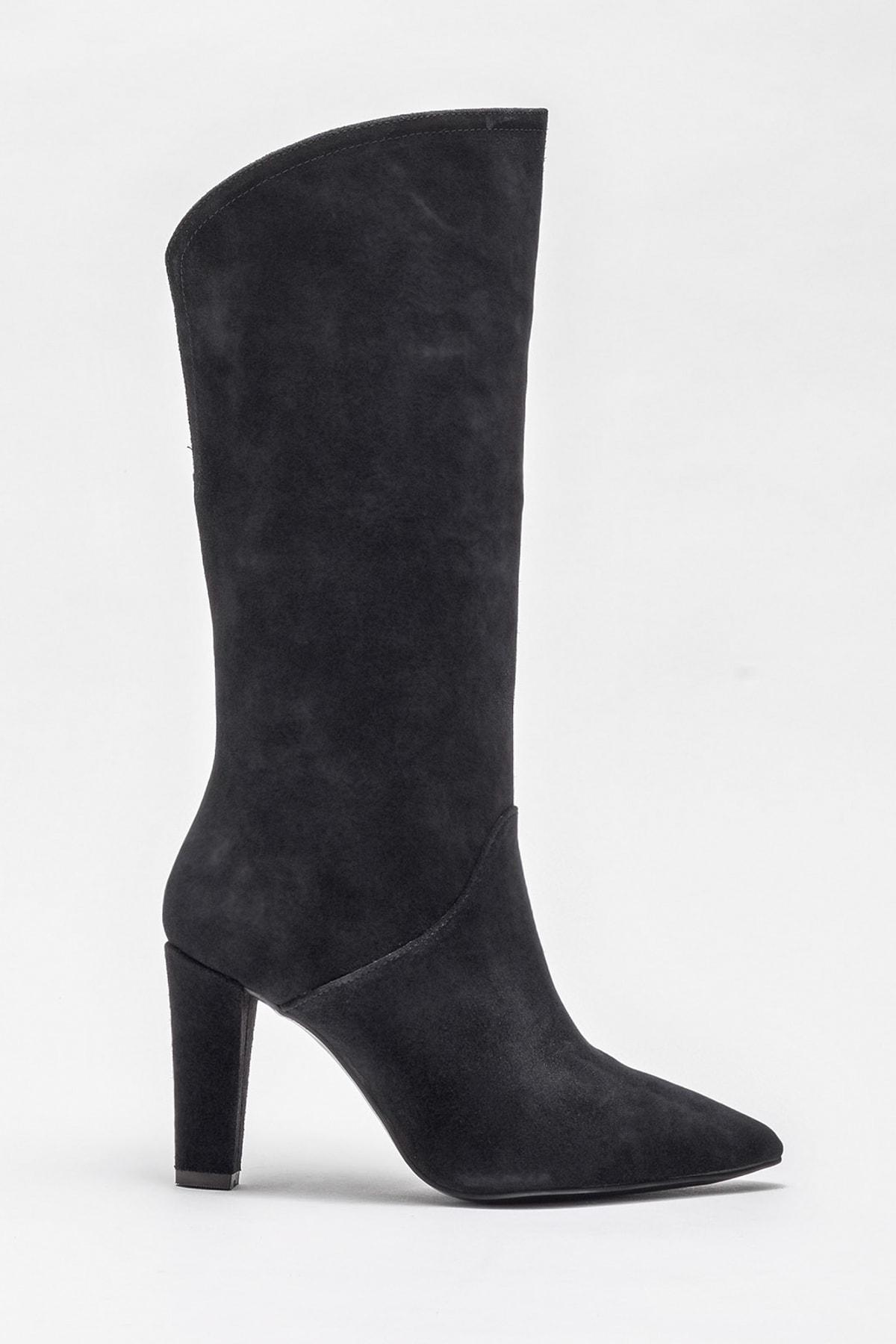 Elle Shoes Kadın Jorayn Sıyah Çizme 20KDS55212 1