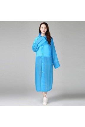 İstoc Trend Unisex Mavi Şeffaf  Yağmurluk