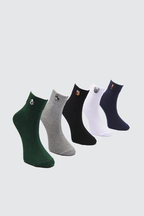 TRENDYOL MAN Gri Erkek 5'li Soket Çorap TMNAW21CO0067