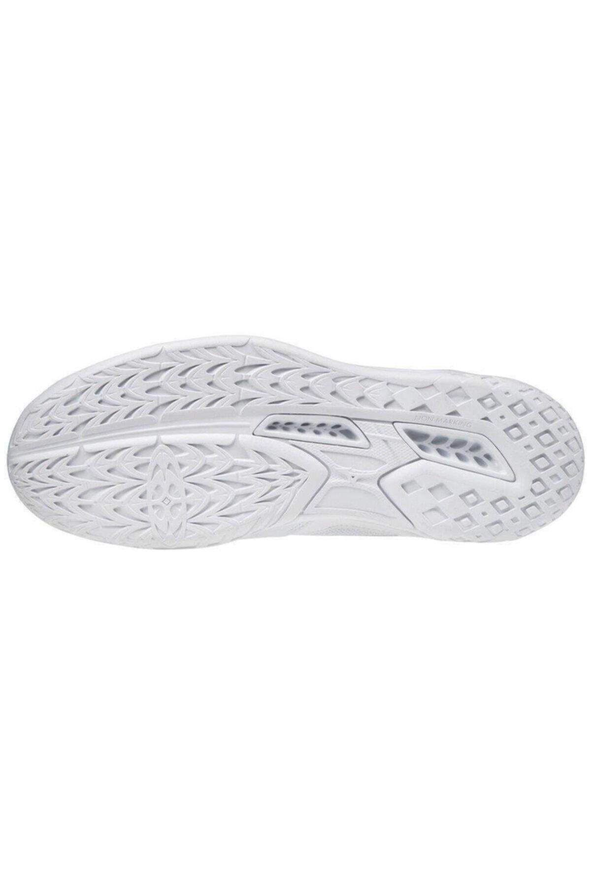 MIZUNO Unısex Beyaz/mavi Voleybol Ayakkabısı 2