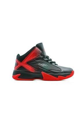 Jump Erkek Siyah Kırmızı Spor Ayakkabı 20k 25528 M